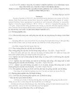NGHIÊN CỨU, PHỤC TRÁNG VÀ PHÁT TRIỂN GIỐNG LÚA NẾP ĐẶC SẢN ĐỊA PHƯƠNG BA THÁNG CHO TỈNH BÌNH ĐỊNH
