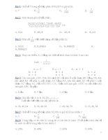 Đề thi toán trắc nghiệm học kỳ 2 lớp 5