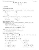 Hệ thống bài tập Giải tích 12
