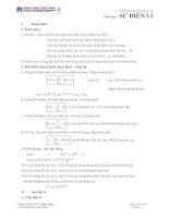 Tóm tắc lý thuyết chương sự điện li