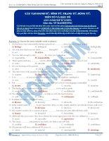 Cấu tạo danh từ, tính từ, trạng từ, động từ. Tiền tố và hậu tố- Part 3
