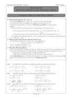 Bài tập đại số lớp 10 chương Phương trình và hệ phương trình- Trần Sĩ Tùng