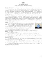Bộ 10 đề thi HSG lí 8