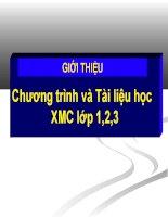 Gioi thieu chuong trinh, tai lieu XMC.ppt