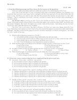 TEST 4(unit 8-9) multiple choice