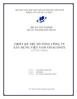 Đồ án tốt nghiệp khoa xây dựng Thiết kế trụ sở tổng công ty xây dựng Việt Nam Vinaconex