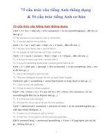 75 cấu trúc câu tiếng anh thông dụng và 54 cấu trúc tiếng anh cơ bản
