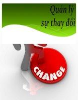 Slide môn quản lý sự thay đổi: Phân tích các kỹ thuật gia tăng tính cấp bách cần sự thay đổi của 1 tổ chức