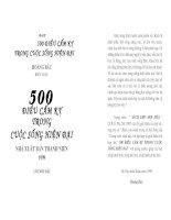 500 điều cấm kị trong cuộc sống hiện đại