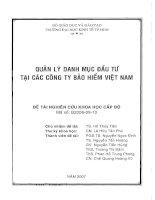 Quản lý danh mục đầu tư tại các công ty bảo hiểm Việt Nam