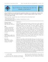 Tỉ lệ nhiễm và sự đề kháng kháng sinh của vi khuẩn Vibrio spp. phân lập từ huyết heo, nghêu và phân bệnh nhân tiêu chảy tại tỉnh Trà Vinh