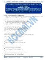 Mệnh đề quan hệ và cách kết hợp câu có cùng chủ ngữ- Part 2