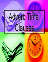 ADVERBIAL CLAUES OF TIME(PPT)
