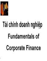 Bài Giảng Môn Tài chính doanh nghiệp