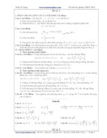 60 Bộ đề thi- đáp an ôn thi TNTHPT- (Tham khảo)