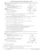 80 bài tập hình học 9 hay có đáp án