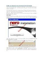 Cài đặt và sử dụng chương trình Nero để ghi dĩa CD.doc(nero).doc