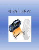báo cáo đồ án tốt nghiệp hệ thống lái cơ điện tử