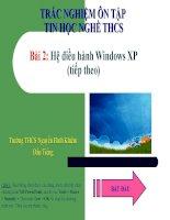 Trắc Nghiệm Tin Học Nghề THCS Bài 2 tt