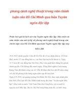 Phong cách nghệ thuật trong văn chính luận của Hồ Chí Minh qua bản Tuyên ngôn độc lập