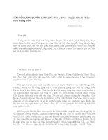 VĂN HÓA LÀNG DUYÊN LINH ( Xã Đông Ninh- Huyện Khoái Châu- Tỉnh Hưng Yên)