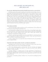 BÍ QUYẾT LẤY TRỌN ĐIỂM CÂU LUẬN TIẾNG ANH TRONG KÌ THI THPT QUỐC GIA