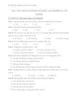Các dạng bài tập về kim loại nhóm IIA và nhôm