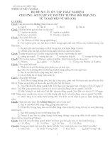 Bộ đề 50 câu hỏi trắc nhiệm chương sơ lược về thuyết t.đ hẹp