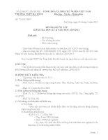 Kế hoạch ôn tập kiểm tra học kỳ II năm 2010-2011