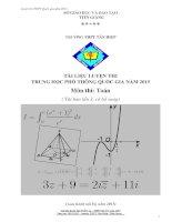 Luyện thi THPT quốc gia môn toán