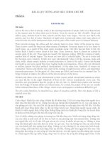 TỔNG HỢP BÀI LUẬN MẪU TIẾNG ANH SONG NGỮ 12 PHỤC VỤ KÌ THI THPT QUỐC GIA