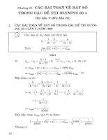 Các bài toán về dãy số trong kỳ thi olympic phần 1