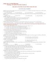 Tài liệu ôn thi TN môn Sinh (3 chủ đề với gần 1000 câu hỏi TN có đáp án)