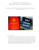 Báo cáo tiểu luận môn quản lý hành chính nhà nước quy trình chuyển nhượng quyền sử dụng đất (đã có sổ đỏ)