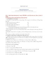 Bài tập quản trị ngân hàng phần 1