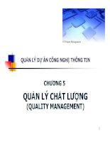 Bài giảng quản lý dự án công nghệ thông tin   chương 5