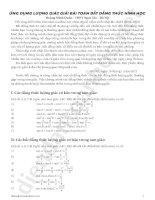 ứng dụng lượng giác giải bài toán bất đẳng thức hình học