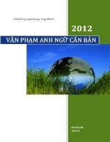 VĂN PHẠM ANH NGỮ CĂN BẢN 2002