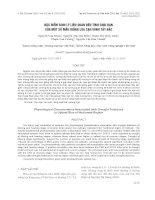 báo cáo khoa học đề tài ĐẶC ĐIỂM SINH LÝ LIÊN QUAN ĐẾN TÍNH CHỊU HẠN CỦA MỘT SỐ MẪU GIỐNG LÚA CẠN VÙNG TÂY BẮC