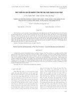 báo cáo khoa học đề tài PHÁT TRIỂN DU LỊCH CỘI NGUỒN Ở TỈNH PHÚ THỌ THỰC TRẠNG VÀ GIẢI PHÁP