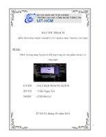 Tiểu luận môn phương pháp nghiên cứu khoa học TRIZ với ứng dụng Nguyên lý kết hợp trong các sản phẩm tin học và công nghệ