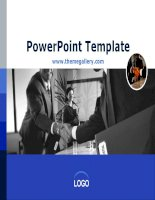 Template PowerPoint Finance  131TGp report diagram v2