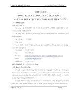 luận văn kế toán Công tác hạch toán kế toán tại Công ty cổ phần đầu tư và phát triển dịch vụ công nghệ Tiên Phong