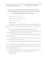 ĐỀ CƯƠNG BÁO CÁO CHUYÊN MÔN HÈ BẬC TIỂU HỌC 2013-TÍCH HỢP NỘI DUNG GIÁO DỤC TÀI NGUYÊN VÀ MÔI TRƯỜNG BIỂN ĐẢO,HẢI ĐẢO VIỆT NAM