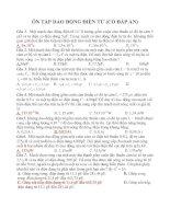Bài tập về dao động điện từ có đáp án