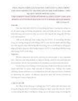 BÁO CÁO THỰC TẬP-THỰC TRẠNG CÔNG TÁC GIÁO DỤC THỂ CHẤT VÀ HOẠT ĐỘNG THỂ THAO TRONG CÁC TRƯỜNG TRUNG HỌC PHỔ THÔNG  TRÊN ĐỊA BÀN THÀNH PHỐ ĐÀ NẴNG