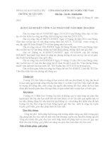 Báo cáo tổng kết công tác pháp chế năm học 2014  2015