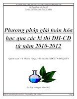 BÁO CÁO THỰC TẬP-Phương pháp giải toán hóa học qua các kì thi ĐH-CĐ 2010 2012