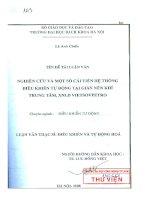 nghiên cứu và một số cải tiến hệ thống điều khiển tự động t6ại giàn nén khí trung tâm xnld vietso vpetro