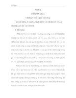 PHÂN TÍCH ĐÁNH GIÁ THỰC TRẠNG VÀ ĐỀ XUẤT NHỮNG GIẢI PHÁP NHẰM NÂNG CAO KHẢ NĂNG TÀI CHÍNH TẠI CÔNG TY CỔ PHẦN DẦU THỰC VẬT